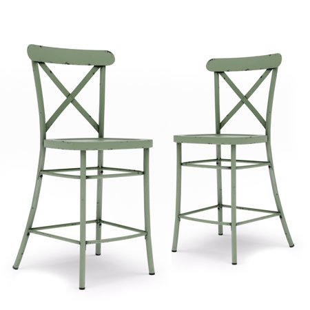 Peachy Better Homes Gardens Collin Counter Height Stools 2 Pack Squirreltailoven Fun Painted Chair Ideas Images Squirreltailovenorg