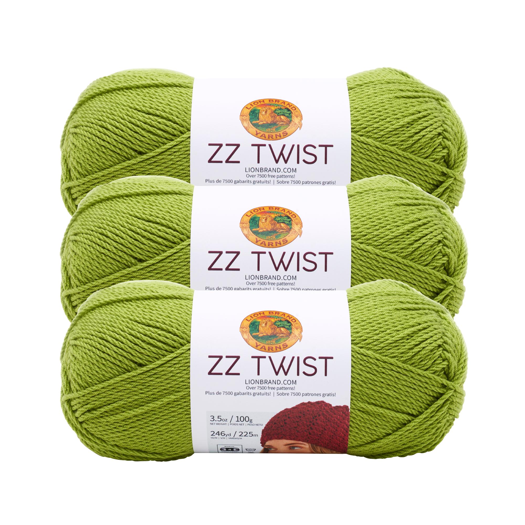 Lion Brand Yarn 763-170A ZZ TWIST PEACOCK 3 Pack Basic Yarn