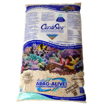 CaribSea Arag-Alive Live Aragonite Reef Sand - Special Grade Reef Sand 20 lbs