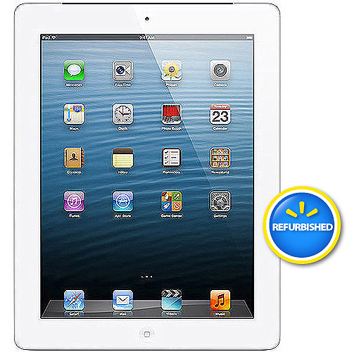 Apple iPad with Retina display 32GB Wi-Fi Refurbished, (Black or White)