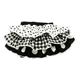 Baby Girls Black and White Polka Dot Cotton Bloomers 0-24 Months