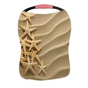 ECZJNT Christmass Tree From Shells On Sand Nursing Cover Baby Breastfeeding Infant Feeding Cover Baby Car Seat Cover