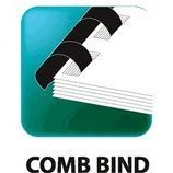 1/4'' Black Plastic Comb Binding - Box of 100, Comb Binding for use with GBC type binding By (Gbc Binding Combs)