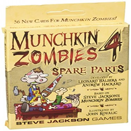 Munchkin Zombies 4 Spare Parts - Body Parts Halloween Game