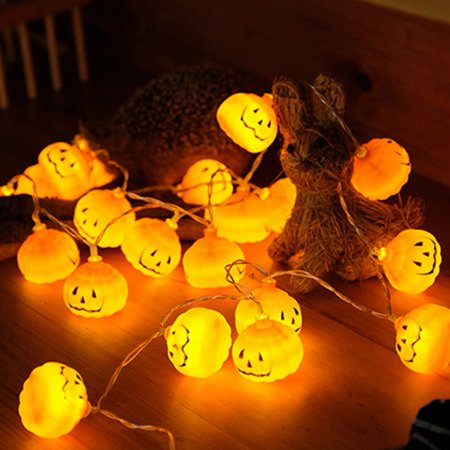 1M 2M 3M Halloween Pumpkin led string lights Halloween Holiday Christmas Party Garden Decoration Lanterns Light - Halloween Light Show Party Anthem
