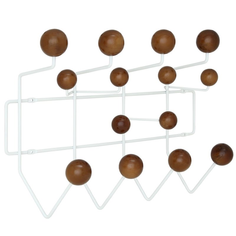 Hawthorne Collection Wall Mount Coat Rack in Walnut