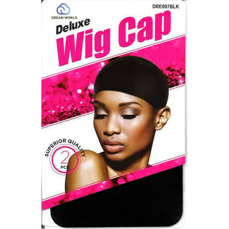 2 Pack - Dream Deluxe Wig Cap, Superior Quality, Black 2 ea
