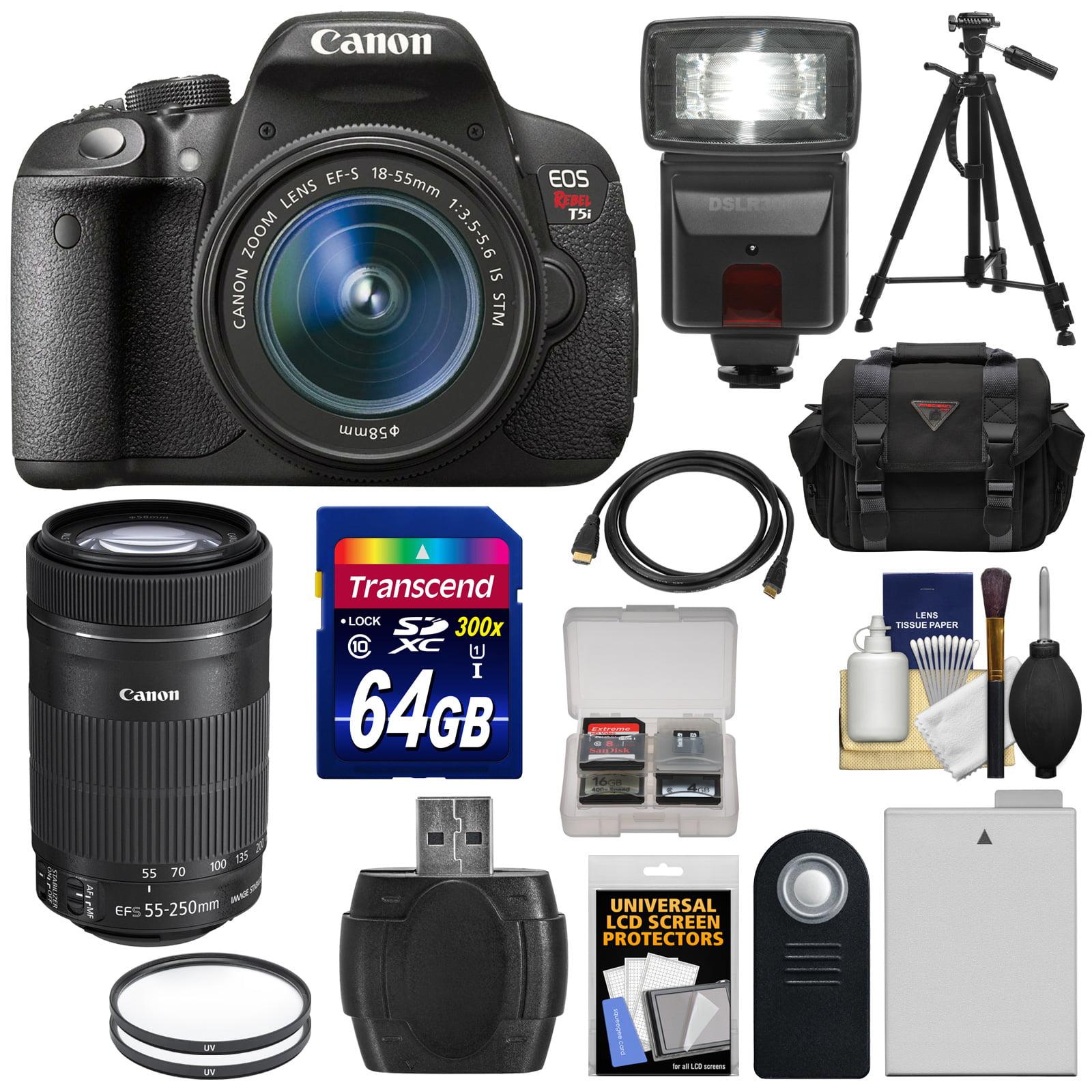 Canon EOS Rebel T5i Digital SLR Camera & 18-55mm IS & 55-250