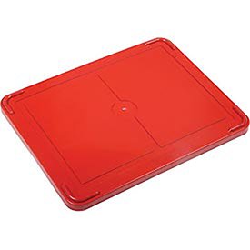 """Lid for Plastic Dividable Grid Container, 22-1/2""""L x 17-1/2""""W, Red, Lot of 3"""