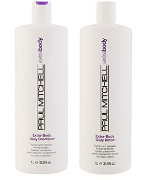 Paul Mitchell Extra Body Daily Rinse 33.8 oz. Shampoo + 33.8 oz. Conditioner (Combo Deal)