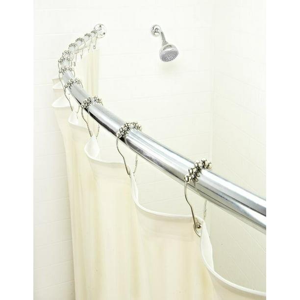Bath Bliss Curved Shower Rod Satin