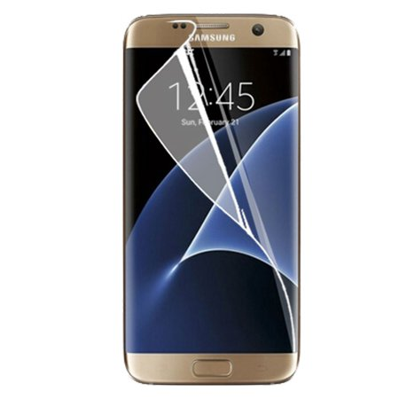 Insten Anti-Shock Clear Screen Protector For Samsung Galaxy S7 Edge (Full Covered Edge to