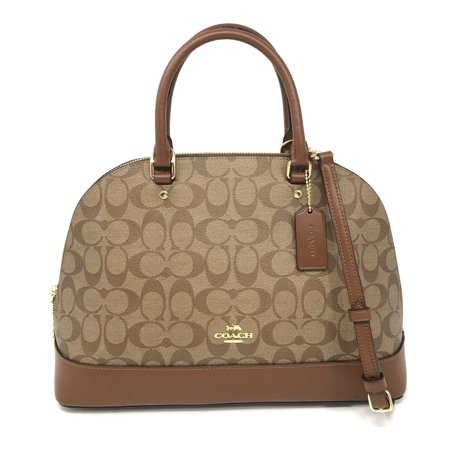 Coach Sierra Satchel in Signature Canvas Brown/Black Bag
