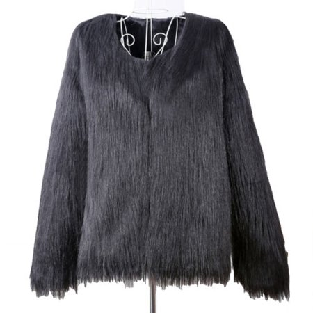 dfa992869f6 Womens Plus Size Warm Winter Loose Faux Fur Parka Coat Overcoat Long Sleeve  Jacket Outwear Luxury Party - Walmart.com