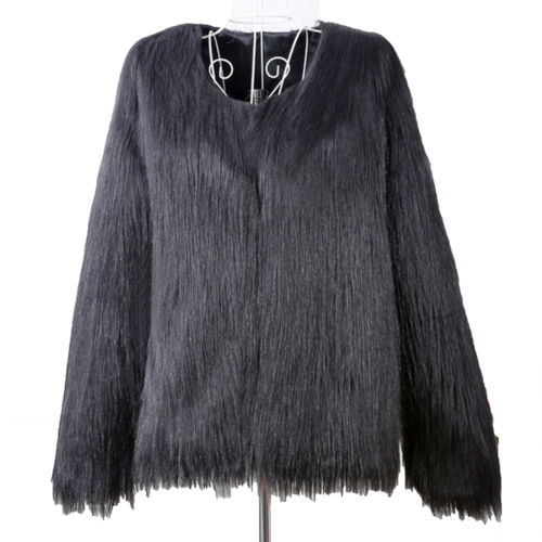 Womens Fur Warm Overcoat Casual Fashion Party Loose Winter Plus Size Coat Jacket
