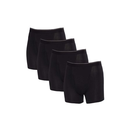 4c21b9e00002d Kirkland Signature - Kirkland Signature 4 Pack Men's Pima Cotton Boxer  Briefs, Medium, Black - Walmart.com