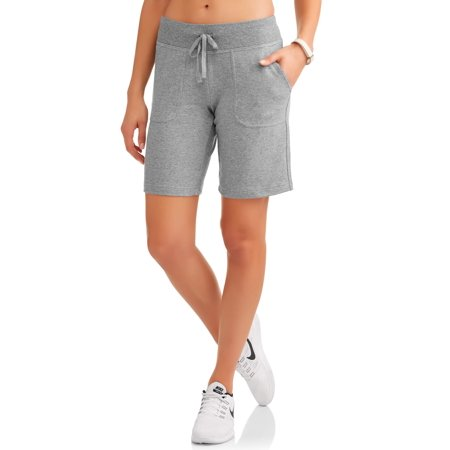 c73d57a479 Athletic Works - Women's Essential French Terry Bermuda Shorts ...