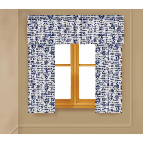 NFL Chicago Bears Window Curtain Panels