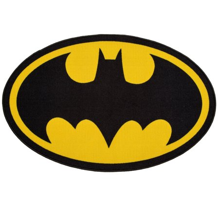 DC Comics Batman Soft Area Rug with Non-Slip Backing by Delta