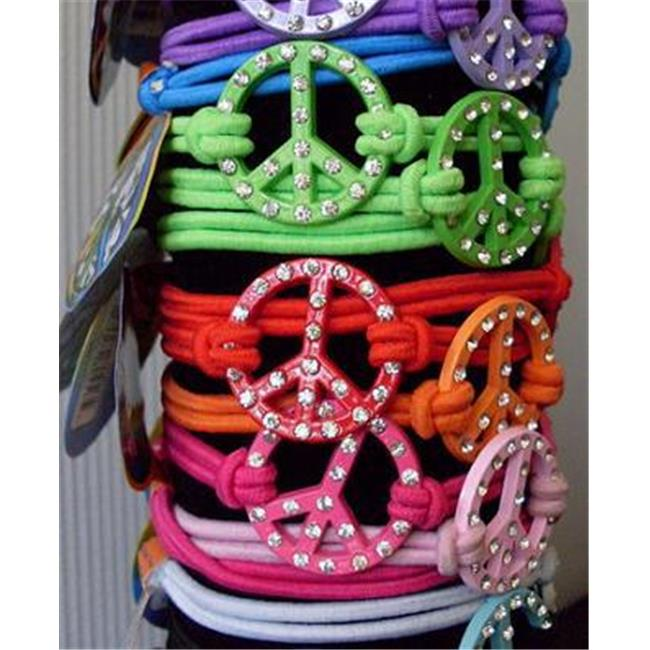 Nu-IMage International BA-307PC2 Bling Peace Bracelets Stretchy, Assorted 36 Piece by Nu-Image International