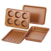 Ayesha 4-Piece Bakeware Toaster Oven Baking Set, Copper