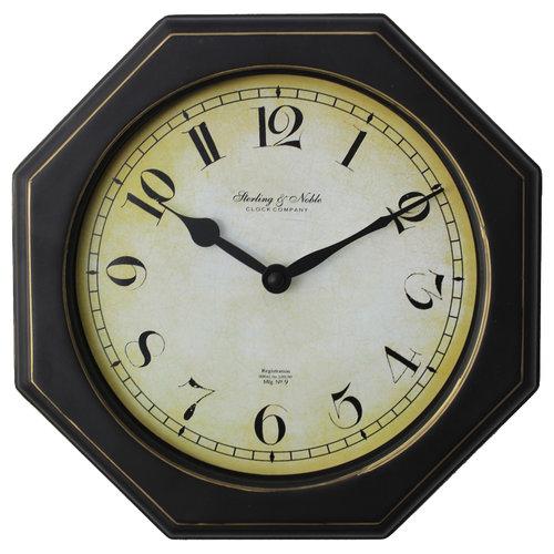 Mainstays Octagon Oak Wall Clock Walmart Com