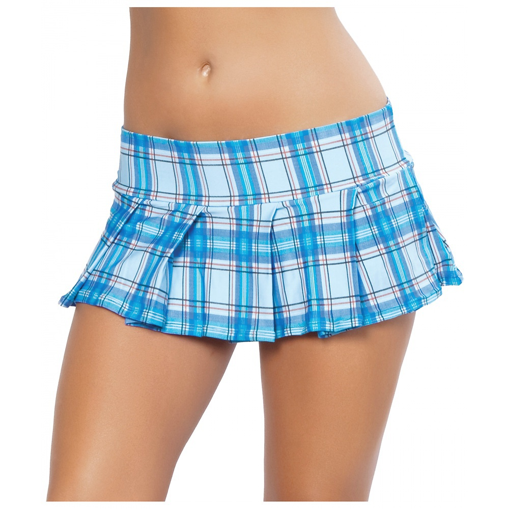 Pleated Skirt Adult Clothing Baby Blue - Small/Medium