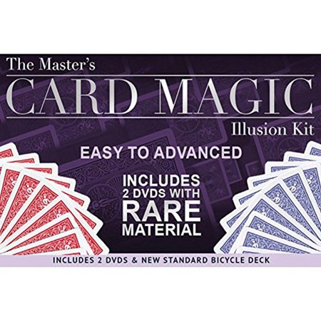 magic makers the master's card magic illusion kit - 2 dvds and a standard bicycle deck - Magic Kit