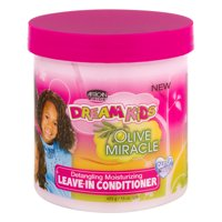 (2 Pack) African Pride Dream Kids Olive Miracle Detangling Moisturizing Leave-In Conditioner, 15 oz