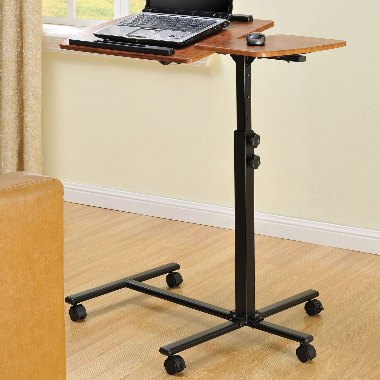 Ameriwood Home Jacob Laptop Cart, Cherry/Black