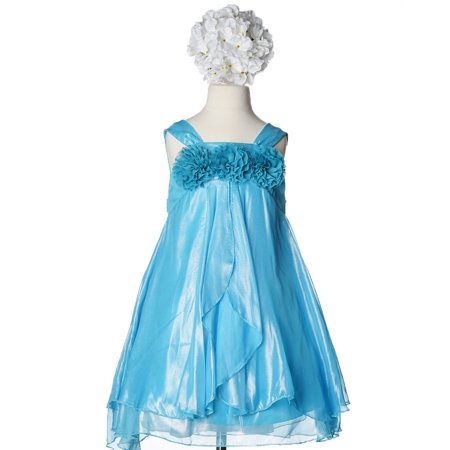 Efavormart Shimmery Chiffon Flower Girl Dress Birthday Girl Dress Junior Flower Girl Wedding Party Gown Girls Dress For Wedding