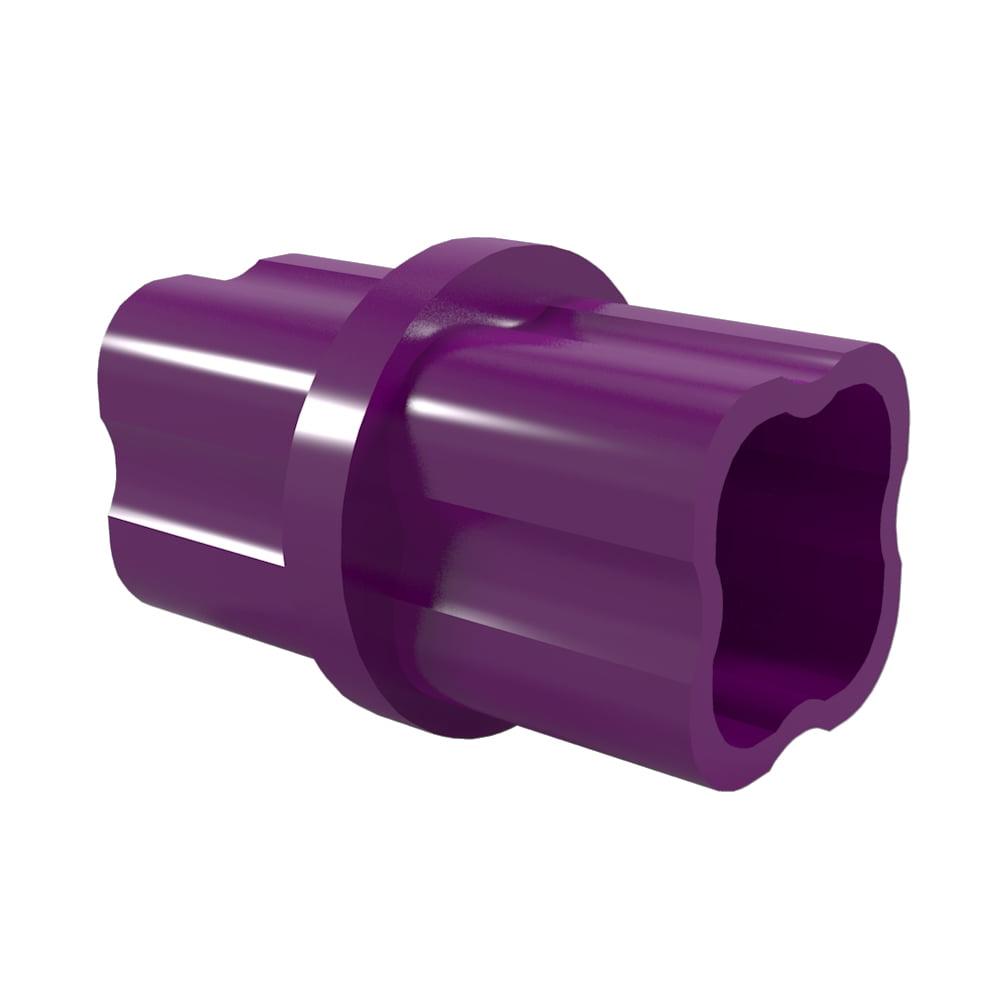 FORMUFIT F001ICO-PU-10 Internal PVC Coupling, Furniture Grade, 1 in. Size, Purple, 10-Pack