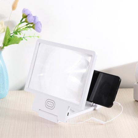 Small Volume 3D HD Mobile Phone Screen Magnifier Video Amplifier OneLoupe  Stand Eyes Protect Magnified to 12 inch