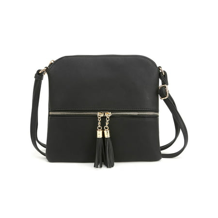 Deluxity Tassel Crossbody Purse- Black