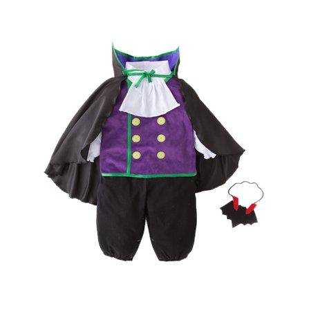 Adorable Toddler Boys Vampire Romper Halloween Costume 4pcs Outfit (110/4-5 Years)