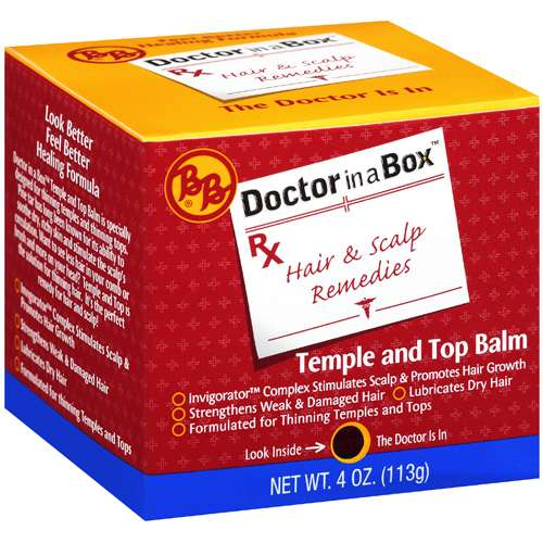 Bb: Temple And Top Balm Doctor In A Box Hair & Scalp Remedies, 4 Oz