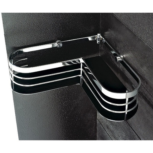 Toscanaluce by Nameeks Corner Shower Tray in Chrome