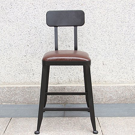 Vintage Retro Bar Stool Chair Wood Pu Leather Barstools Bistro Pub Kitchen Home