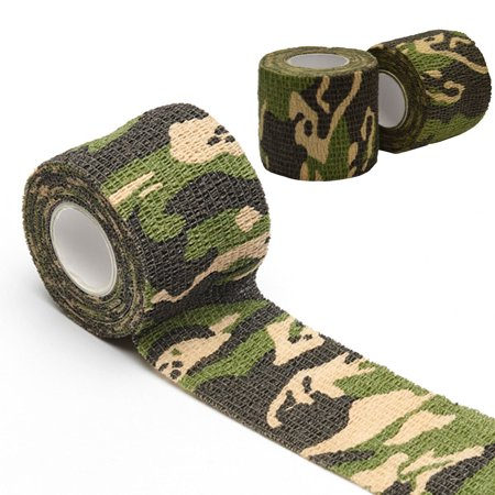 - Camo Adhesive Thickened Stretchy Strong Waterproof Cloth Tape Self Adhesive Repair Bandage 1pc
