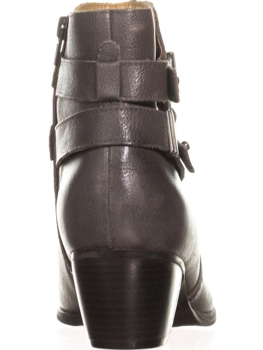 Womens naturalizer Kepler Block Heel Ankle Boots, Grey Leather