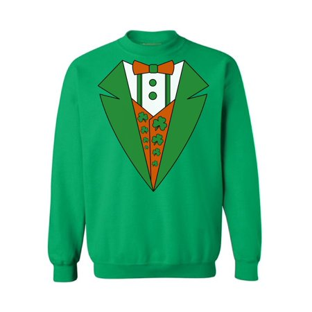 2bfea79f4 Awkward Styles Irish Tuxedo Sweatshirt Funny Leprechaun Suit Sweater for  Men and Women Irish Gifts for St. Patrick's Day St. Paddy's Tuxedo Proud To  Be ...