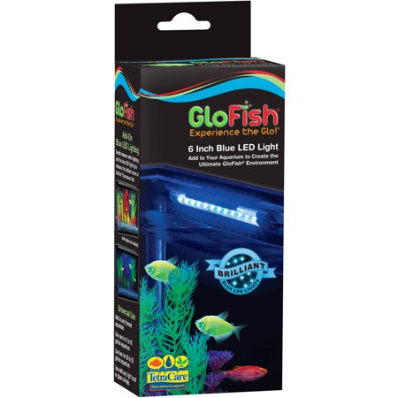 Aquaculture glofish blue led light 6 for Fish heater walmart