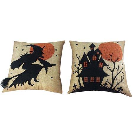 Craft Outlet 2 Piece Halloween Throw Pillow Set