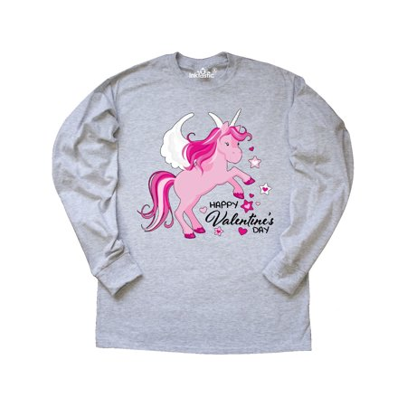 Inktastic Happy Valentine S Day Unicorn Long Sleeve T Shirt