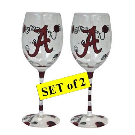 Alabama Crimson Tide Hand Painted Wine (Painted Wire)