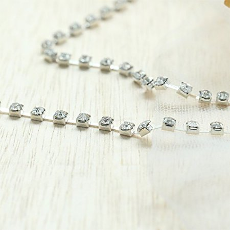 Simsly Gold Head Chain Jewelry with Rhinestone Headpiece for Women and Girls FV-054 (Silver) - image 4 of 4