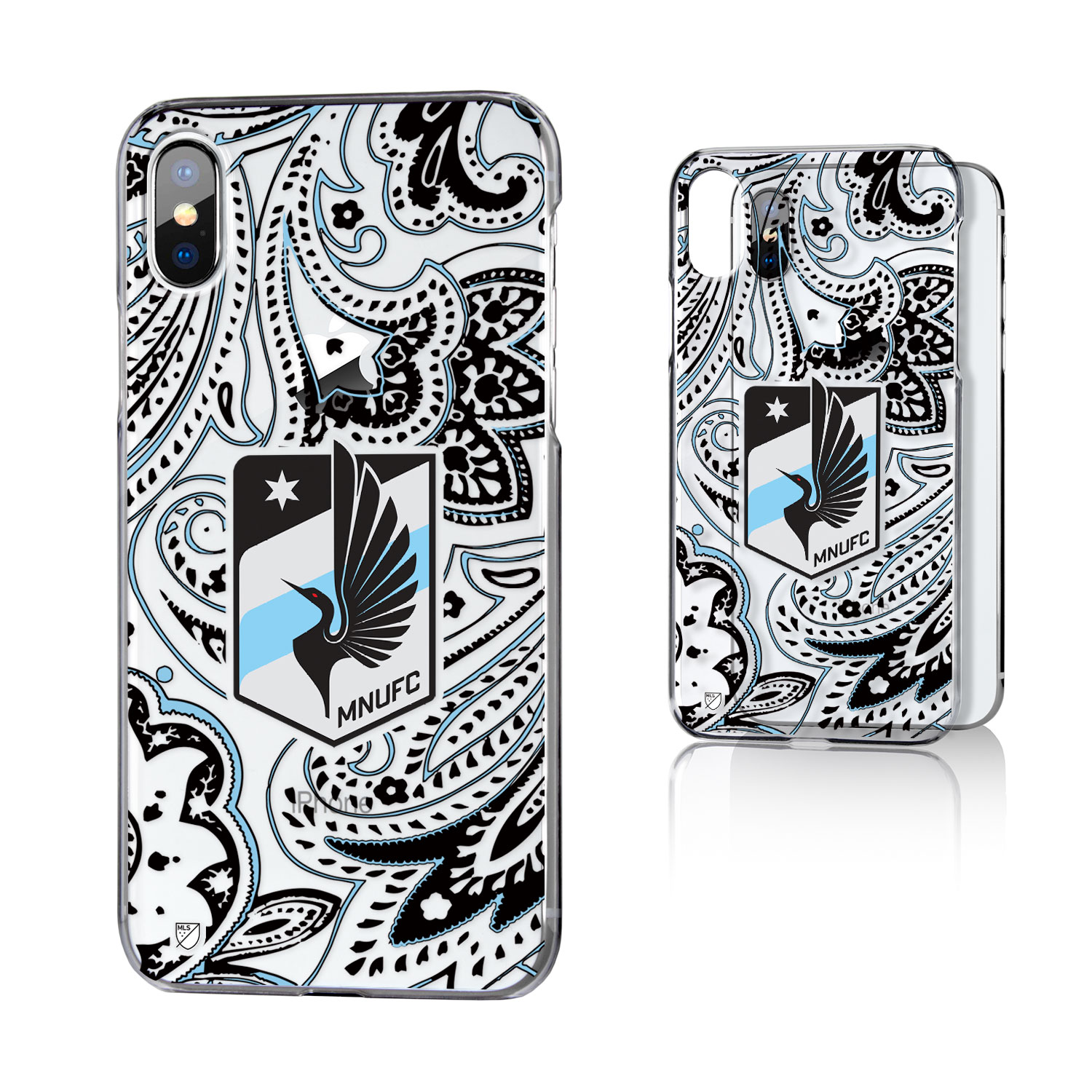Minnesota United FC MNUFC Paisley Clear Case for iPhone X