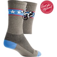SockGuy Crew Wheelie Socks - 6 inch, Gray, Large/X-Large