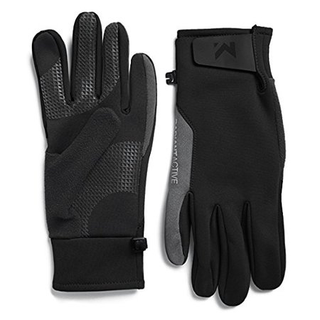 Mission Men's RadiantActive Performance Midweight Gloves, Black, Small/Medium