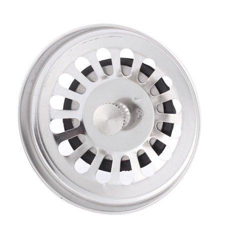 Kitchen Wash Basin Metal Removable Basket Sink Drain Strainer Stopper